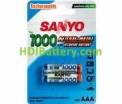 Batería recargable cilíndrica Ni-MH SANYO AAA-RC3